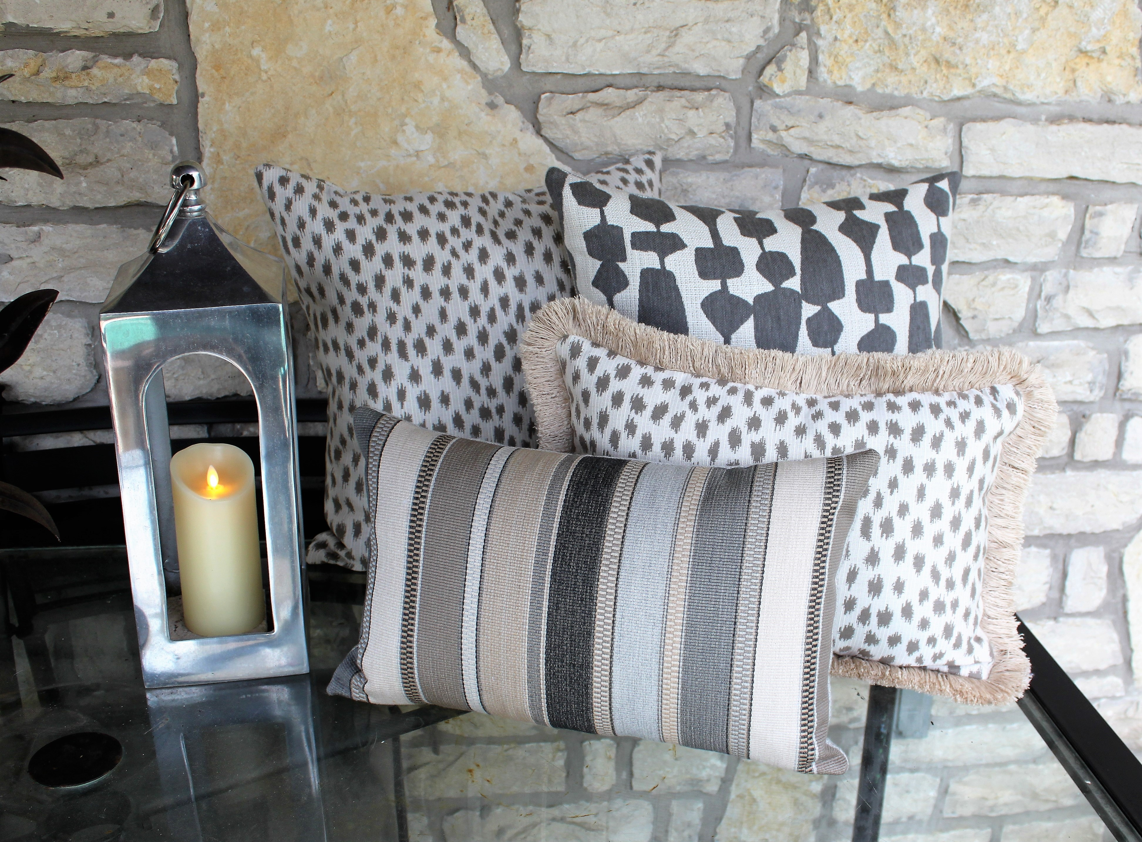 pillows and candle