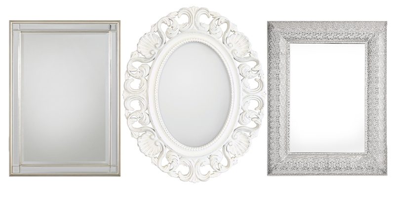 three wall mirrors